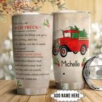 Red Truck Faith Personalized HTQ2011012 Stainless Steel Tumbler