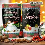 Snow Couple Personalized KD2 HRX2011004 Stainless Steel Tumbler