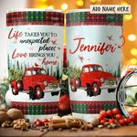 Red Truck Love Home Personalized KD2 HRX2011002 Stainless Steel Tumbler
