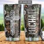 Personalized Hunting Fishing Faith Metal Style PYZ1612011 Stainless Steel Tumbler