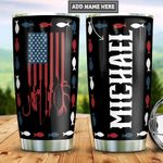 Personalized American Flag Hunting Fishing PYZ1612001 Stainless Steel Tumbler