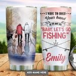 Personalized Old Husband Wife Fishing PYZ1612013 Stainless Steel Tumbler