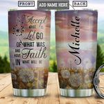 Faith Dandeline Personalized HHS1612005 Stainless Steel Tumbler