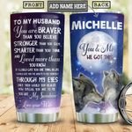 Wolf To My Husband Personalized HHS1612013 Stainless Steel Tumbler