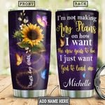 God Lead Me Personalized HHS1612007 Stainless Steel Tumbler