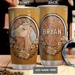 Horse Leather Style Personalized DNR1612011 Stainless Steel Tumbler