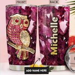 Owl Gemstone Style Personalized DNR1612013 Stainless Steel Tumbler