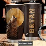 Wolf Leather Style Personalized DNR1612015 Stainless Steel Tumbler