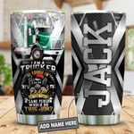 Crazy Trucker Personalized KD2 HNL1612003 Stainless Steel Tumbler