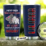 Elephant Mommy Personalized THA1612006 Stainless Steel Tumbler