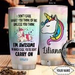 Unicorn KD4 Personalized THA1612012 Stainless Steel Tumbler