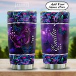 Butterfly Gem Galaxy Personalized HAB1612003 Stainless Steel Tumbler