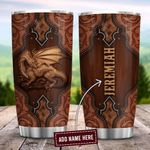 Dragon Leather And Wooden Style Personalized ZZB1612005 Stainless Steel Tumbler