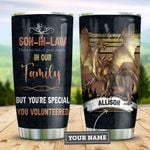 Dragon Son In Law You Volunteered Personalized HAB1612006 Stainless Steel Tumbler