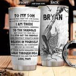 Mom To Son Viking Personalized DNR1712009 Stainless Steel Tumbler