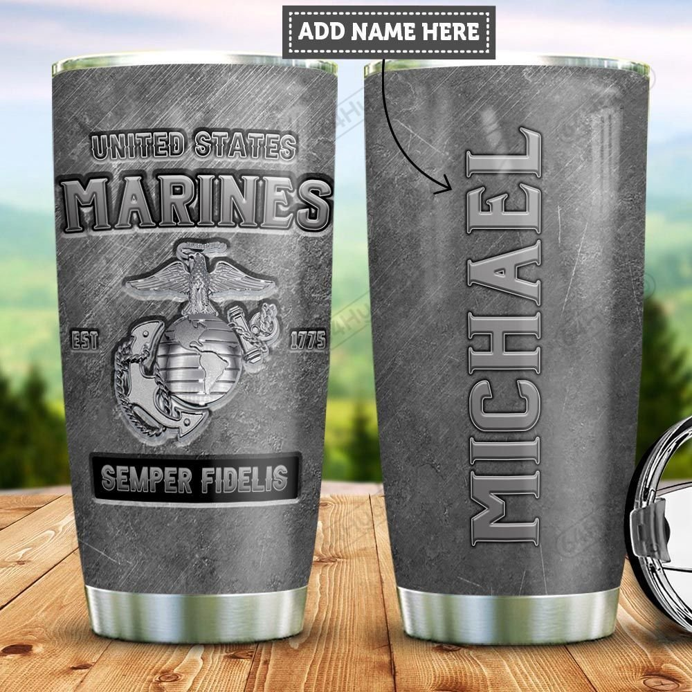 Personalized US Marine Corps Veteran PYZ1712021 Stainless Steel Tumbler