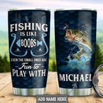 Personalized Fishing Fun TTZ1712005 Stainless Steel Tumbler