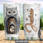Personalized Owl Wood Style TTZ1712014 Stainless Steel Tumbler