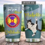 Tuxedo Cat Cattitude Personalized KD2 HRX1712004 Stainless Steel Tumbler