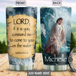 God On The Water Personalized HHS1712008 Stainless Steel Tumbler