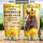 Horse New Year Personalized HHS1712009 Stainless Steel Tumbler