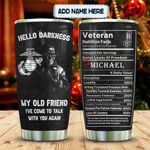 Veteran Nutrition Facts Personalized KD2 MAL1712012 Stainless Steel Tumbler