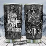Metal Style Valkyrie Girls Personalized KD2 HNL1712009 Stainless Steel Tumbler