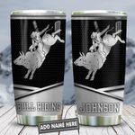 Metal Style Bull Riding Personalized KD2 HNL1712007 Stainless Steel Tumbler