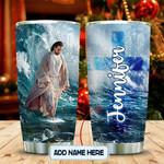 Jesus He Walks On Water Personalized KD2 MAL1712005 Stainless Steel Tumbler