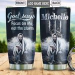 God On The Water Personalized HHS1812009 Stainless Steel Tumbler