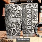 Deer Silver Style Personalized DNR1812007 Stainless Steel Tumbler