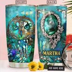Owl Glass Style Personalized NNR1812012 Stainless Steel Tumbler