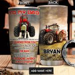 To My Dad Tractor Personalized DNR1812013 Stainless Steel Tumbler