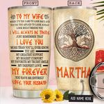To My Wife Viking Personalized NNR1812014 Stainless Steel Tumbler