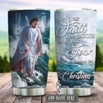 Faith Waves Personalized KD2 HRX1812004 Stainless Steel Tumbler