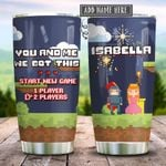 Couple Video Games We Got This Personalized KD2 HRX1812003 Stainless Steel Tumbler