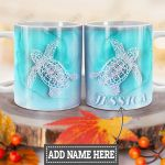 Personalized Ocean Turtle HLZ1812035 Full Color Ceramic Mug