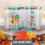 Personalized Sunflower Hippie Soul HLZ1812037 Full Color Ceramic Mug