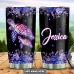 Personalized Purple Turtle TTZ1812014 Stainless Steel Tumbler