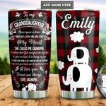 Personalized Elephant Grandma To Granddaughter PYZ1812002 Stainless Steel Tumbler