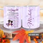 Personalized Black Woman Mom To Daughter TTZ1812029 Full Color Ceramic Mug