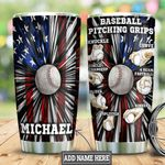 Personalized Baseball Pitching Grips HLZ1812001 Stainless Steel Tumbler