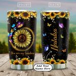 Butterfly My Sunshine Sunflower Personalized KD2 HAL1812001 Stainless Steel Tumbler