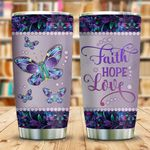 Metal Style Butterfly Faith Hope Love KD2 BGL1812009 Stainless Steel Tumbler