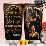 To My Black Wife Personalized NNR2112007 Stainless Steel Tumbler