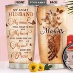 Angel Husband Personalized HHS2112001 Stainless Steel Tumbler