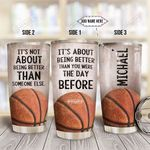Basketball Personalized HHS2112002 Stainless Steel Tumbler