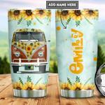 Personalized Sunflower Hippie Van PYZ2112021 Stainless Steel Tumbler