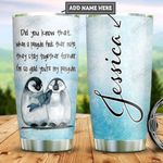 Personalized Penguin Couple TTZ2112012 Stainless Steel Tumbler