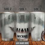Personalized Shark Face HLZ2112018 Stainless Steel Tumbler